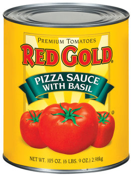 Red Gold W/Basil Pizza Sauce 105 Oz Can