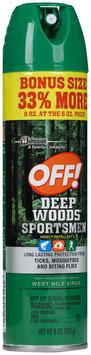 Off!® Deep Woods® Sportsmen Insect Repellent 8 oz. Aerosol Can