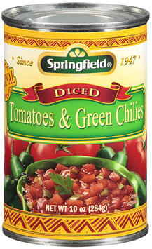 Springfield® Diced Tomatoes & Green Chilies 10 oz.