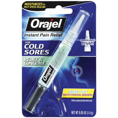 Orajel Instant Pain Relief Cold Sore W/Concealer .05 Oz Peg