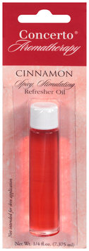 Concerto® Aromatherapy Cinnamon Refresher Oil 0.25 fl.oz. Carded Pack