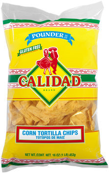 Calidad® Corn Tortilla Chips 16 oz. Bag