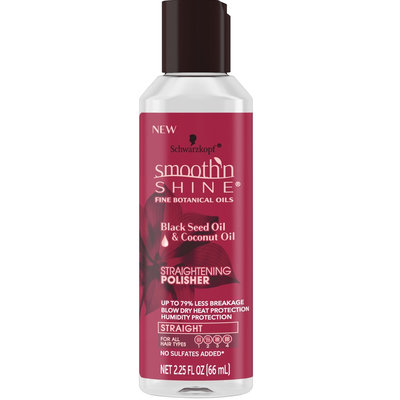 Smooth 'n Shine Schwarzkopf® Black Seed Oil & Coconut Oil Straightening  Polisher