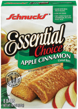 Schnucks Essential Choice Apple Cinnamon Cereal Bars 10.4 Oz Box