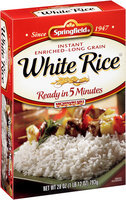 Springfield® Instant Enriched Long Grain White Rice 28 oz. Box