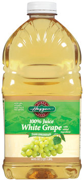 Haggen White Grape 100% Juice 64 Oz Plastic Bottle