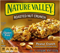 Nature Valley® Peanut Crunch Roasted Nut Crunch Bars 6 ct Box
