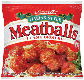 SHAW'S Italian Style 96 Ct Meatballs 48 OZ BAG