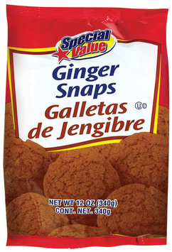 Special Value Ginger Snaps Cookies 12 Oz Bag