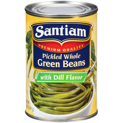 Santiam® Premium Quality Pickled Whole Green Beans with Dill Flavor 14.5 oz. Can
