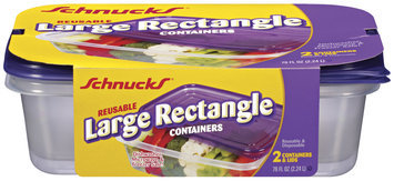 Schnucks Reusable Large Rectangle 76 Oz Containers 2 Ct