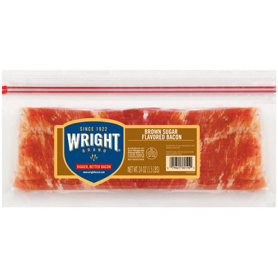 Wright® Brown Sugar Flavored Bacon 24 oz. Pack