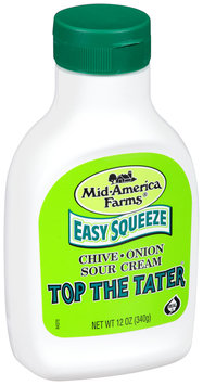 Mid-America Farms® Easy Squeeze Top the Tater® Chive & Onion Sour Cream 12 oz. Bottle