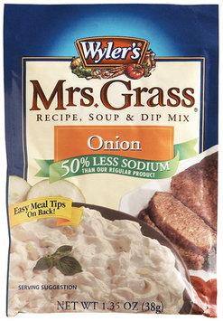 WYLER'S Onion Reduced Sodium Mrs. Grass Recipe Soup & Dip Mix 1.35 OZ PEG
