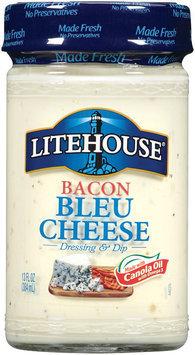 Litehouse Bacon Bleu Cheese Dressing & Dip 13 Fl Oz Jar