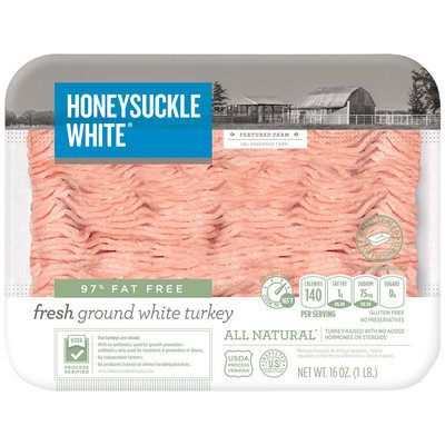 Honeysuckle White® 97% Fat Free Fresh Ground White Turkey Breast