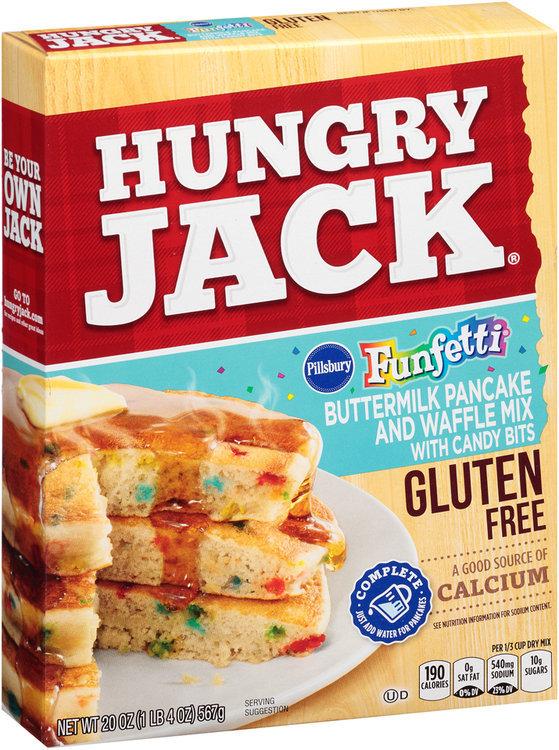 Hungry Jack Gluten Free Funfetti Buttermilk Pancake And Waffle Mix