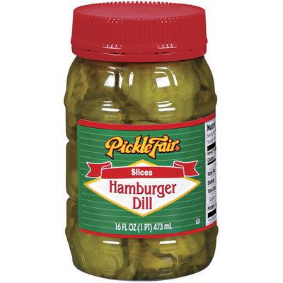 Pickle Fair Hamburger Dill Slices Pickles 16 Oz Jar