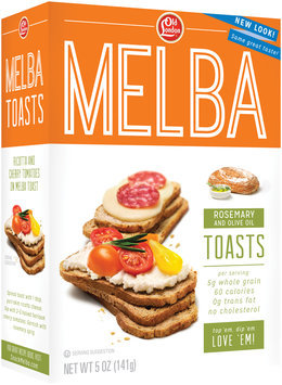 Old London® Melba Toast Rosemary & Olive Oil 5 oz. Box