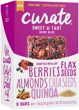 Curate™ Berry Bliss Snack Bars 6-1.59 oz. Packs