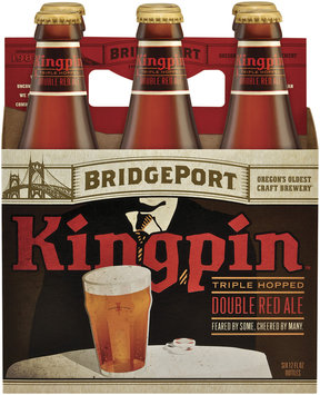 Bridgeport Kingpin 12 Oz Beer 6 Pk Glass Bottles