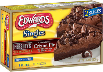 Edwards® Singles Hershey's® Special Dark® Chocolate Creme Pie 6 oz. Box