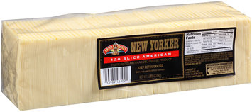 New Yorker® 120 Slice American Cheese 5 lb. Pack