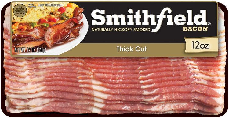 Smithfield Naturally Hickory Smoked Thick Cut Bacon