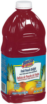 Special Value Fruit Punch Delight Beverage 64 Oz Plastic Bottle