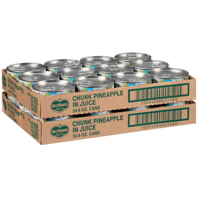 Del Monte™ Pineapple Chunks in 100% Pineapple Juice 48-8 oz. Cans