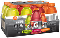 Gatorade® G Series Fierce® Lemon-Lime+Strawberry/Fierce® Fruit Punch+Berry/Fierce® Orange+Tropical Fruit Variety Pack Sports Drink 12-32 fl. oz. Bottles