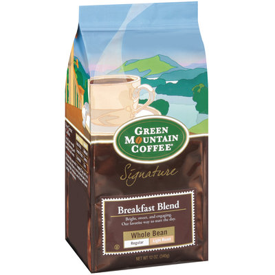 Green Mountain Coffee Roasters  Breakfast Blend Whole Bean Signature Coffee 12 Oz Stand Up Bag