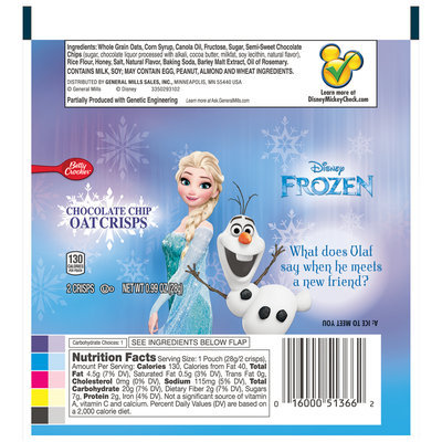 Betty Crocker™ Disney Frozen Chocolate Chip Oat Crisps 0.99 oz. Pack