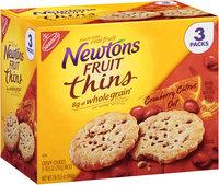Nabisco® Newton's Fruit Thins Cranberry Citrus Oat Crispy Cookies 3-10.5 oz. Packs