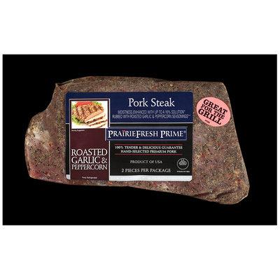 PrairieFresh Prime® Roasted Garlic & Peppercorn Pork Steak