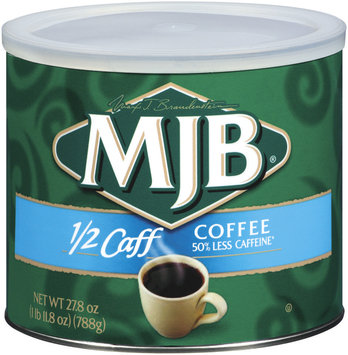 MJB 1/2 Caff Coffee 27.8 Oz Canister