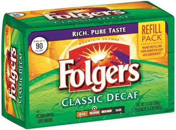 Folgers Classic Decaf Medium Refill Pack Ground Coffee 11.3 Oz Brick