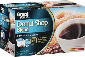 Great Value™ Donut Shop Blend Medium 100% Arabica Coffee 5.09 oz. Box