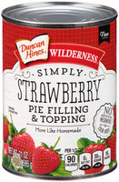 Duncan Hines® Wilderness® Simply Strawberry Pie Filling & Topping 21 oz. Can