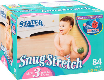 Stater Bros.® Snug Stretch™ Size 3 Big Pack Diapers 84 ct. Box