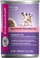 Eukanuba Puppy Mixed Grill with Chicken & Beef in Gravy Dog Food 12.3 oz. Can