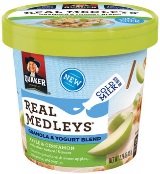 Quaker® Real Medleys® Apple & Cinnamon Granola & Yogurt Blend 2.29 oz. Cup