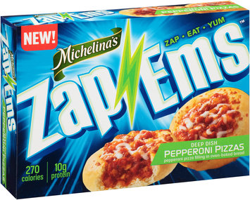 Michelina's® Zap 'Ems™ Deep Dish Pepperoni Pizzas 4 oz. Box
