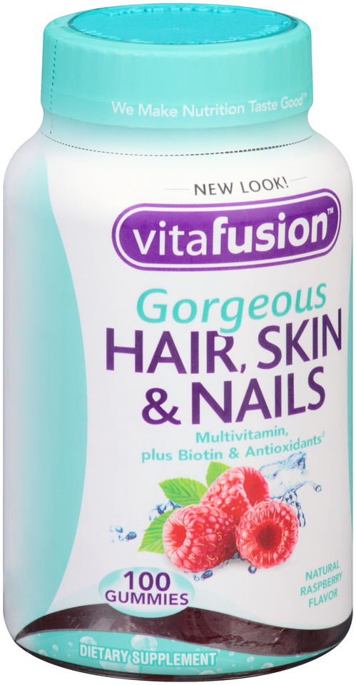 Vitafusion™ Gorgeous Hair, Skin & Nails Multivitamin Raspberry Gummies