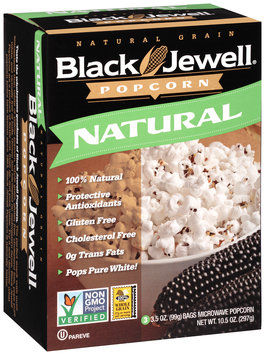 Black Jewell® Natural Microwave Popcorn 3-3.5 oz. Bags