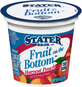 Stater Bros.® Fruit on the Bottom Low Fat Harvest Peach Yogurt 6 oz. Cup