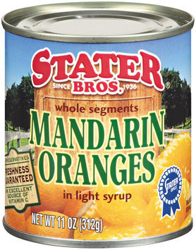 Stater Bros.® Whole Segments Mandarin Oranges in Light Syrup 11 oz Can