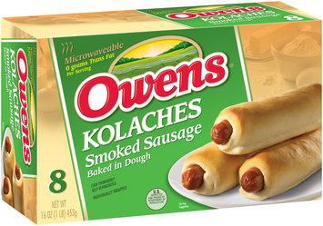 Owens® Kolaches Smoked Sausage Baked in Dough 8 ct Box