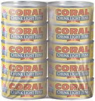 Coral Chunk Light In Oil 5 Oz Cans Tuna 10 Ct Wrapper
