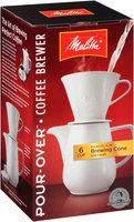 Melitta® Pour-Over™ Porcelain Brewer 6 Cup Coffee Maker Box
